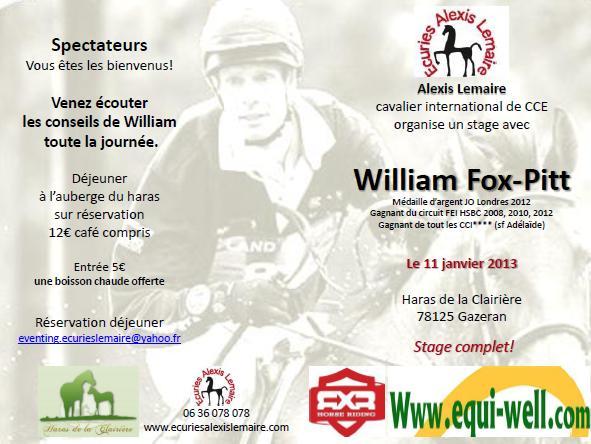 William Fox-Pitt en France ce vendredi!