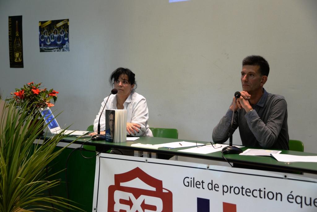 Laurent Bousquet et Carine Camboulives lors des Journées 2014 - photo Pierre Barki