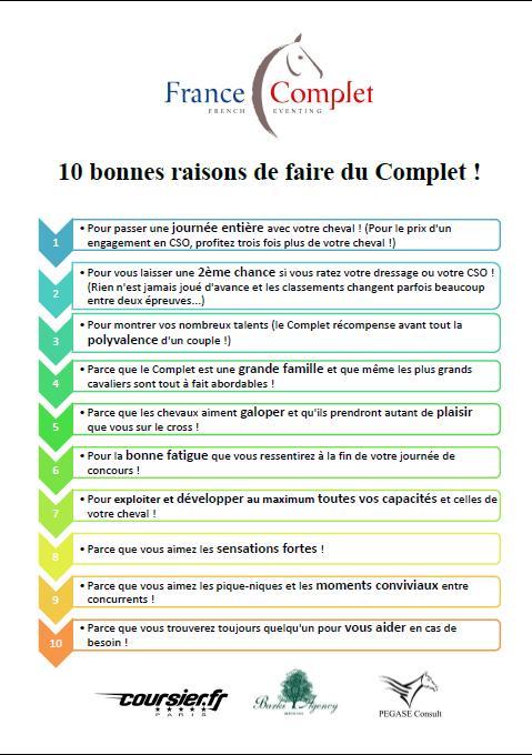 10 bonnes raisons de faire du Complet !