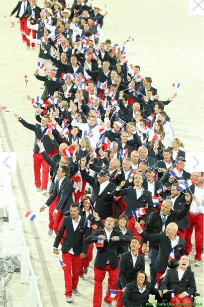 La délégation Française dans le défilé des nations - photo FFE / PSV