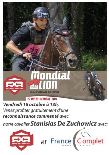Mondial du Lion : reconnaissance avec Stanislas de Zuchowicz