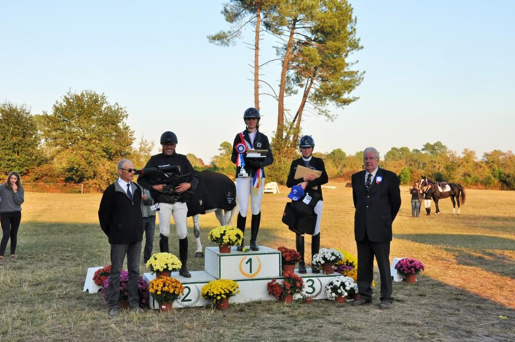 Podium Criterium 7 ans Amateur, avec Eric Lieby et André Lamarre
