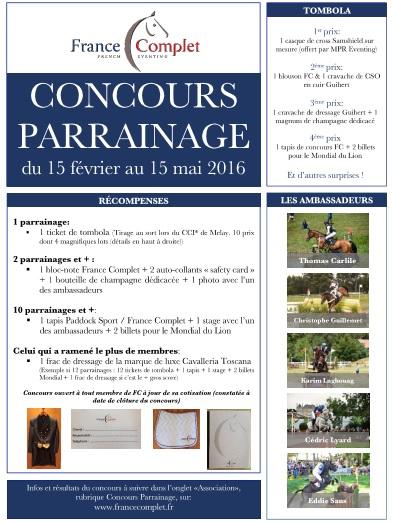 Concours Parrainage