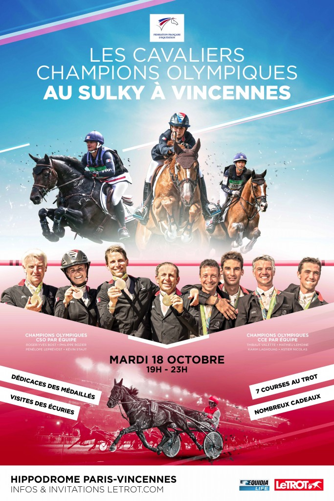 Les Champions Olympiques à Vincennes ce soir !