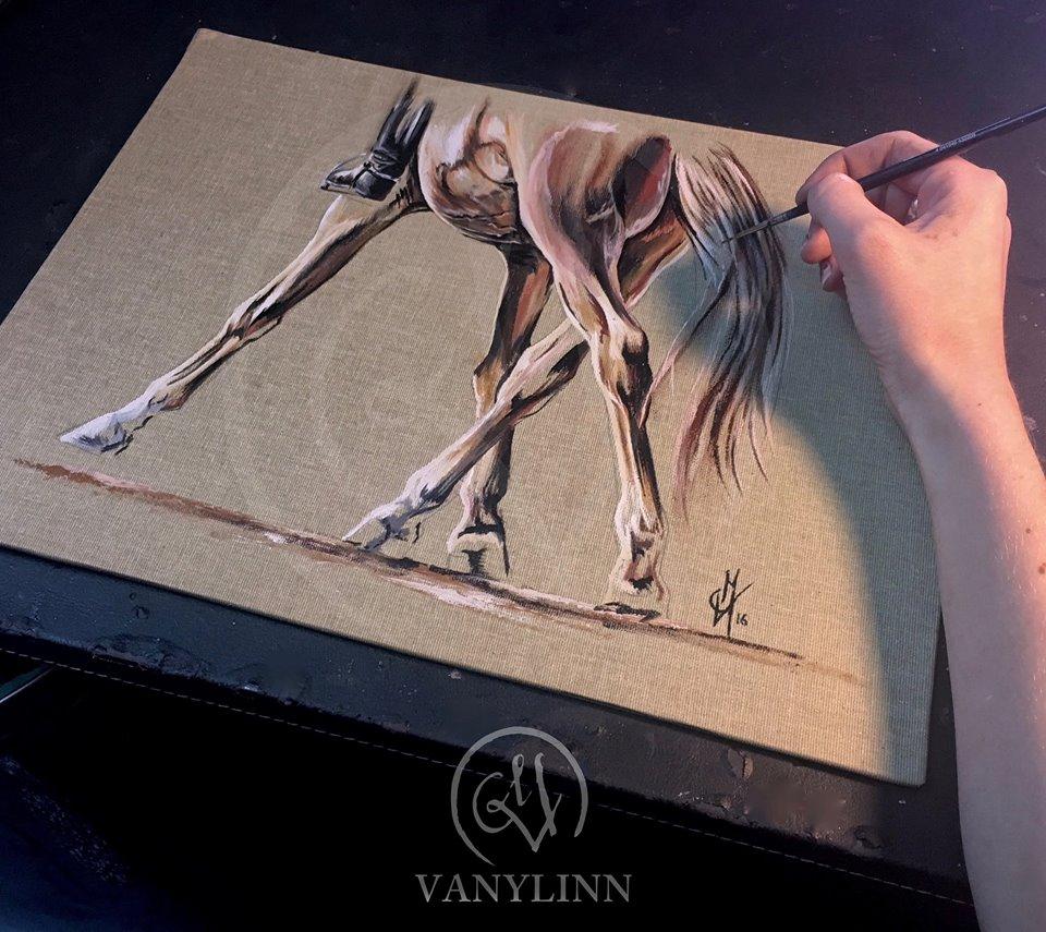 La toile offerte pour le Trophée Bruno Bouvier réalisée par Vanylinn