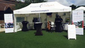 Jardy : la tente France Complet est à l'Amateur Team