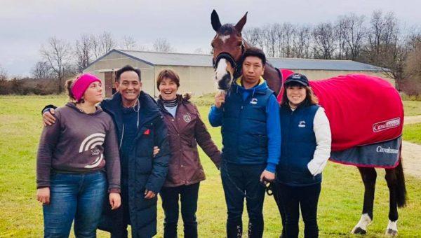 4 chevaux Français pour la Chine !